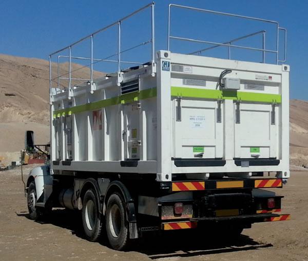 módulo de servicio móvil - unidad de abastecimiento de maquinaria grande de la minería